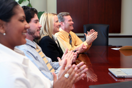 Business Team working in a downtown business office